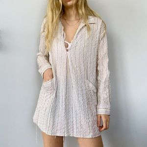Free People striped beachy colorful tunic top